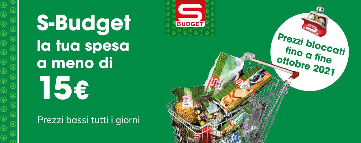 S-Budget: la tua spesa a meno di 15€